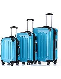 Beibye 2048 - Juego de 3 maletas rígidas (policarbonato)