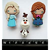 Disney ELSA, ANNA and OLAF - Novelty Craft Buttons & Embellishments by Dress It Up