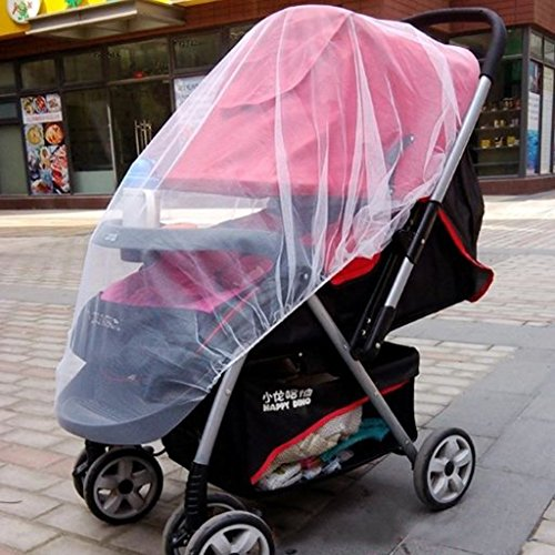 Generic Baby Carriage Stroller pram Mosquito Net Plus Size White-15013254MG  available at amazon for Rs.230
