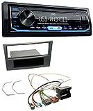 JVC KD-X151 1DIN USB Aux MP3 Autoradio für Opel Antara Astra H Zafira B ab 2005 Charcoal