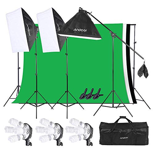 Andoer Iluminación Fotográfica Softbox Kit
