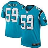 59 Luke Kuechly Trikot Carolina Panthers Jersey American Football Shirt Mens Color Rush Legend Blue Color Rush Legend Size M(40)