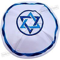 Kipà de satén Estrella de David Mitzva sombrero judío cubrecabeza étnica Israel