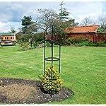 KINGFISHER STEEL GARDEN OBELISK GARDEN OUTDOOR ROSE PLANT FRAME 1.9 METRES