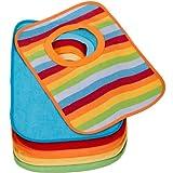 Hummelladen || 6er Set große Lätzchen aus 70% Baumwolle, sehr saugfähig, 30x24 cm || Baby Schlupflätzchen Laetzchen Überziehlätzchen abwachbar