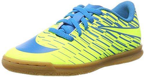Nike Unisex-Kinder Bravatax II IC Fußballschuhe, Gelb (Volt/Blue Orbit-Blue Orbit), 37.5 EU (Für Nike Gelbe Schuhe Kinder)