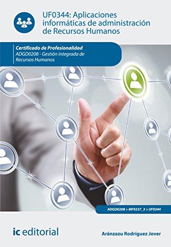 Aplicaciones informáticas de administración de Recursos Humanos. ADGD0208 por Aránzazu Rodríguez Jover