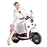 Femme Poncho-pluie Imperméable Capuche Manteau Vêtement de pluie Cape de Pluie Transparent Portable (rose)