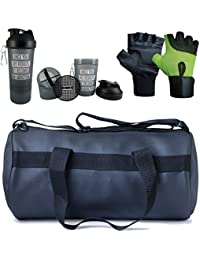 Hyper Adam AN-90 Premium Look Stylish Gym Bag, Protein Shaker And Gym Glove With Wrist Support Combo
