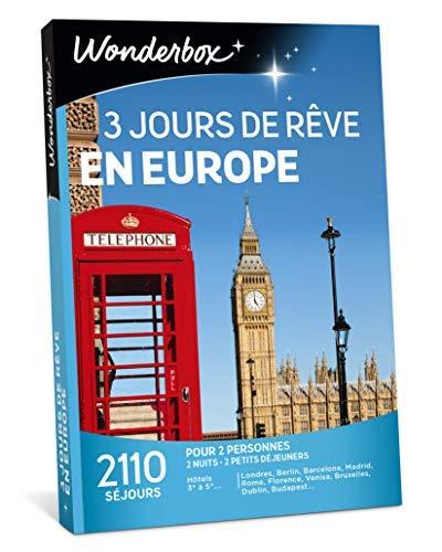 Wonderbox - Coffret cadeau couple - 3 JOURS DE REVE EN EUROPE - 2110 séjours en...