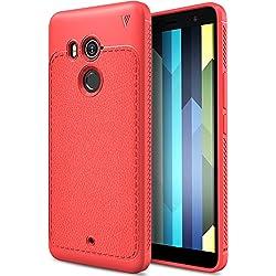 Coque HTC U11 Plus, KuGi [Shock Absorption] Ultra Doux Nouveau design Luxury Case Housse Etui TPU Silicone coque TPU souple Case Cover pour HTC U11 Plus Smartphone coque souple Rouge
