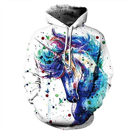 Tzzdwy Gemusterte Sweatshirt digital Bedruckten Pullover mit Kapuze Pullover männliche und Weibliche Liebhaber Kostüm Baseball Uniform große Größe Pullover, XXL