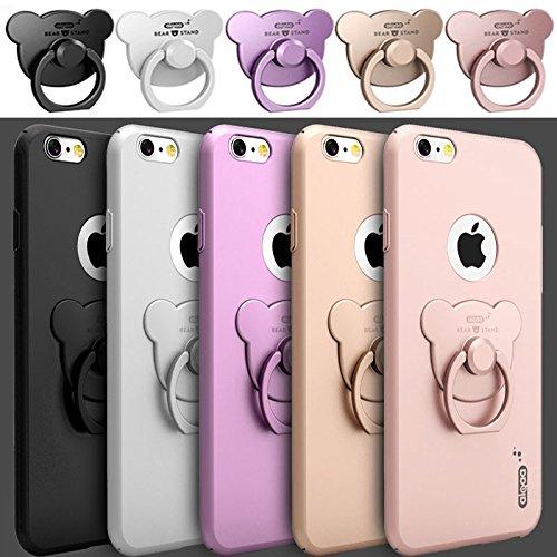 Coque pour Iphone 6/6s (4,7 pouces) , Koala Group® cas de téléphone Creative avec Winnie le support de la bague (iphone 6/6S, White) White