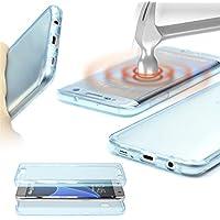 Urcover® Samsung Galaxy S4 | Funda Carcasa Protectora 360 Grados | TPU en Azul | Protección Completa Case Cover Smartphone Móvil Accesorio