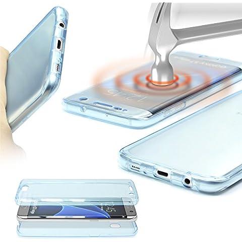 Urcover® Samsung Galaxy A3 | Funda Carcasa Protectora 360 Grados | TPU en Azul | Protección Completa Case Cover Smartphone Móvil Accesorio