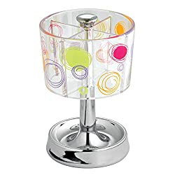 InterDesign Doodle Bath, Toothbrush Stand, Clear/Chrome by InterDesign
