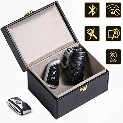 Keyless Go Schutz Autoschlüssel Box, Lanpard Rfid Funk Autoschlüssel Schlüsselhülle Car Key Signal Blocker Funkschlüssel Abschirmung Diebstahlschutz Strahlenschutz