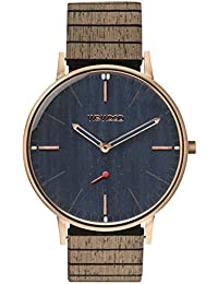 WeWood Holzuhr Albacore Rose Gold Blue Apricot WW63003