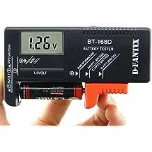 D-FantiX Probador Digital de Baterías Comprobador de batería Para pilas AAA C D 9V 1.5V pilas de botón (Modelo: BT-168D)