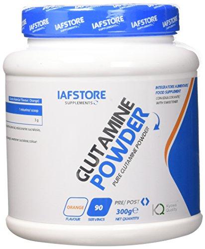 Iafstore Supplements Glutamine Powder integratore alimentare a base dell'aminoacido L-Glutamina...