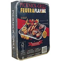 Feuer & Flamme - Picknick-Grill - 1St