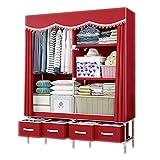 NZ-Wardrobe Kleiderschrank tragbarer Speicher-Kleiderschrank, tragbarer Schrank mit Schublade extra stark und langlebig, Kleidung Speicher-Organizer für Zuhause Schlafzimmer Schrank