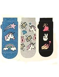 Primark Unicorn - Calcetines para mujer (3 pares, talla única)
