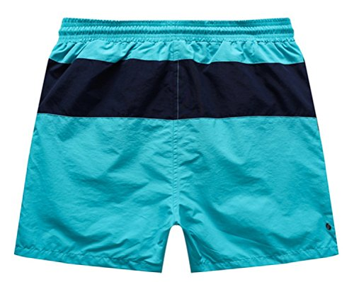 """KUWOMINI.Beach Hose """"3"""" Wort Streifen Farbe Kämpfen Schnell Trocknend Hosen Lose Hosen Nach Hause Red"""