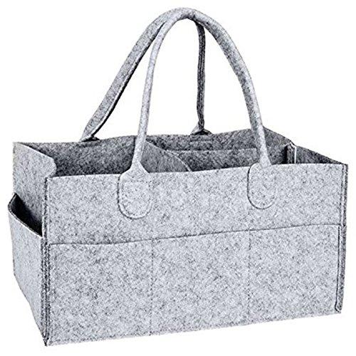 SODIAL Nursery Storage Bin-Baby Diaper Caddy-Nursery Wipes Storage Bag-Portable organizer pannolini da basket