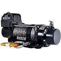 Negro Movimiento Stealth 13000Lb–Cabestrante eléctrico (12V, cable de plástico de 5,9T