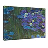 Bilderdepot24 Leinwandbild - Claude Monet - Seerosen in voller Blüte - 60x50cm einteilig - Alte Meister - Kunstdruck - Leinwandbilder - Bild auf Leinwand