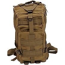 SODIAL(R) 30L Mochila Militar Tactica para Senderismo Campamento al Aire Libre - Caqui