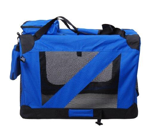 PawHut D1-0015 faltbare Transportbox für Tiere 2 Farben 3 Maßen, blau