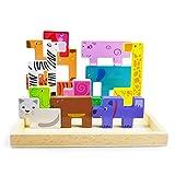 ACOOLTOY Puzzle Animali Tetris Legno Stile Russo Blocchi di Impilaggio Giochi intelligenti Gioco Bimbo Giocattoli Bambini Regalo Bambino Festa o Compleanno,Gioco Società o da solo