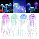 ueetek ueetek 4pcs Glow Hard Jellyfish for the decoration of the aquarium fish tank aquarium