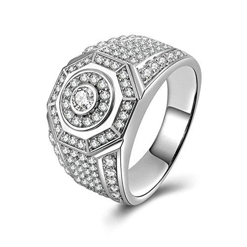 Anazoz anelli nuziali bianco cubic zirconia incisione gratuita fedine donna argento misura 26