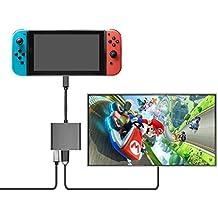 Adaptador HDMI del tipo C, Younik adaptador USB tipo C a HDMI 3 en 1 (4k), conversor USB 3.0 y cargador C para Nintendo Switch, MacBook Pro, Samsung Galaxy S9/S8/Note 8, IMac, Surface Book 2, Dell XPS 13/15, Pixelbook y mucho más