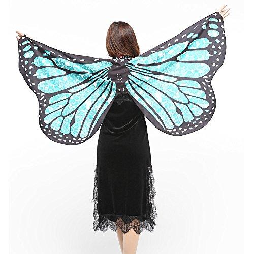 Schal,Sasstaids Frauen Schmetterlingsflügel Schal Schals Damen Nymphe Pixie Poncho Kostüm - Louis Vuitton Tasche Kostüm
