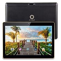 Artizlee 25,54 cm (10,1 Zoll) 3G Tablet-PC (Quad Core Prozessor 32-bits, 1GB RAM, 16GB eMMC, HD IPS Display, 3G Dual-sim, Android 4,4,2, Wi-Fi, WLAN, Neue version) Schwarz