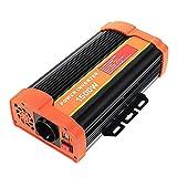 Signstek 300W/ 600W/ 1000W/ 1500W Auto Spannungswandler Welchselrichter DC 12V auf 220V Computer Laptop Projektor Power Inverter mit EU Steckdose, 2.1A USB Port, Autobatterieclips, Kabel (1500W)