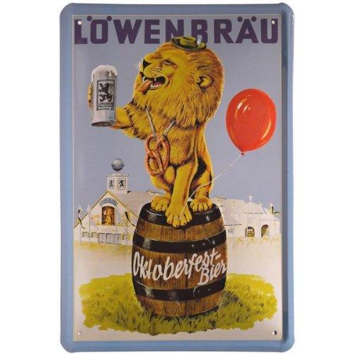 tin-sign-with-retro-lwenbru-oktoberfestbier-20-x-30-cm-metal-167