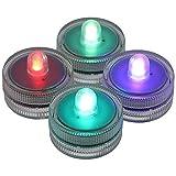 AO Narghilè Eclipse LED Mini Color, Confezione da 4 Pezzi, Elegante Illuminazione a LED a Colori per la Shisha Bowl