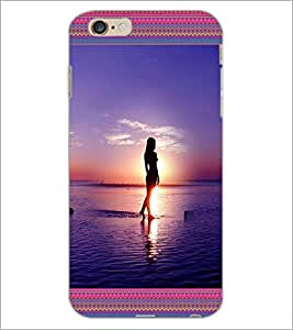 PrintDhaba Beach Girls D-4128 Back Case Cover for APPLE IPHONE 6 (Multi-Coloured)