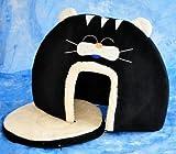 Schicke Katzenhöhle in interessantem, aussergewöhnlichen Catlook-Design – Gr. XL 60×50 cm – SCHWARZ – 30305 - 4