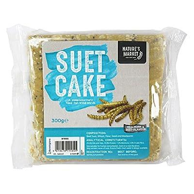 Kingfisher 300g Wild Bird Suet Fat Cake Blocks , All Seasons, All Year Round by Happy Beaks by Happy Beaks