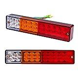 220LED Rücklicht Lampe Wasserdicht Bremse Kontrollleuchten 12V für Trailer Truck Kipper LKW Van Caravan von Discoball®