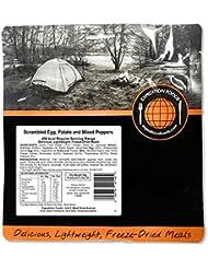 Expedition Foods Huevos Revueltos/patata y mixtos Peppers Regular servir alimentos liofilizado, color naranja, 450Kcal