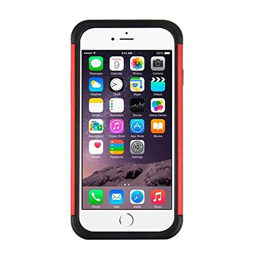 Starry Pattern Dual Layer Silikon + Kunststoff Kombinationsetui für iPhone 6 & 6S by diebelleu ( Color : Dark Blue ) Red