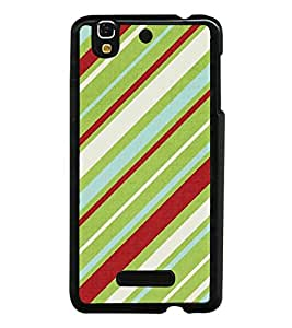 PrintVisa Designer Back Case Cover for YU Yureka Plus :: Yu Yureka PlusYU5510A (Blue White Maroon Green Fabric Pattern)