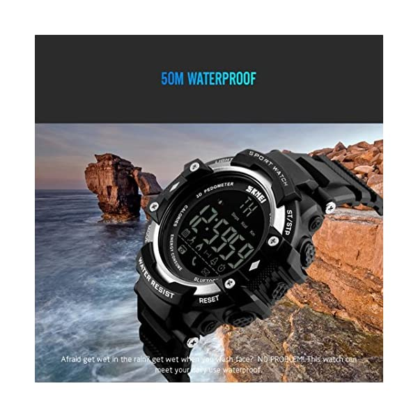 Reloj Deportivo Fitness Tracker SmartWatch con Podómetro Resistente al agua (5ATM) Control Remoto de Cámara Reloj para Correr Para Smartphones Android e IOS La mejor opción para Hombres y Chicos 2